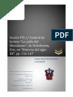 Sesión Viii Control de Lectura La Caída Del Liberalismo