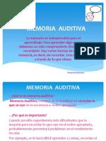 Memoria Auditiva