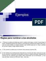 Ejemplos de Alcoholes