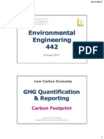GHG Emissions Quantification Reporting