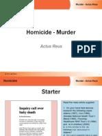 murder actus reus activity pp