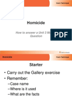 how to answer a unit 3 murder questio