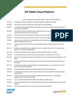 OpenSAP HANA CLOUD2 Week 4 Transcripts