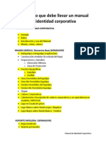Manual de Identidad Corporativa Items