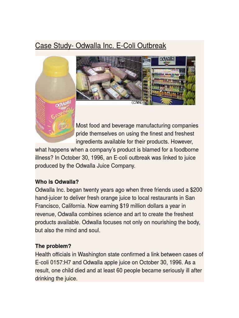 odwalla inc and the e coli outbreak case study