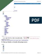 R. Murray Schafer y el estudio del paisaje sonoro | El arte de la fuga – revista online de música clásica