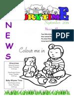 Storytime News - September 2014