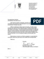 Dubuque Parks and Recreation Letter