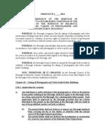 2014 Helmetta Ordinance Establishing No Photos in Public Places