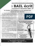 Le BAIL écrit décembre 2009