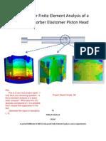 Non-Linear Finite Element Analysis of a Shock Absorber Elastomer Piston Head