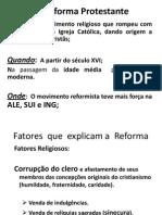 A Reforma Protestante 2013