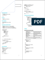Summary Syntax SAS