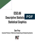 Descriptive Statistics and Statistical Graphics
