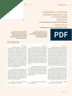 Ciudades creativas ¿paradigma económico para el diseño y la planeación urbana?.pdf