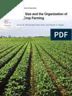 Udsa Farm SizeFarm Size and the Organization of U.S. Crop Farming