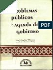 Aguilar Villanueva (1994) Problemas Públicos y Agenda de Gobierno