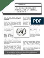 Violacion de Los Derechos Humanos en La Ultima Dictadura Argentina
