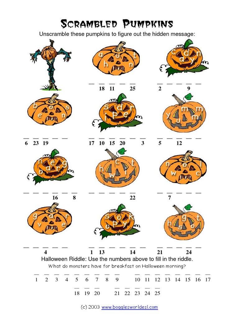 scrambled pumpkins halloween - Bogglesworld Halloween