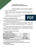 Purificación Sulfato de Cobre - TP1 Química General e Inorganica I FCEN UBA