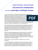 2014-09-01 Appell polnischer Intellektueller - 1939 und 2014 - Joachim Gauck Rede