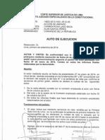 RESOLUCIÓN DEL PODER JUDICIAL SOBRE PEDIDO DE ALAN GARCÍA