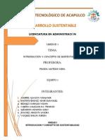 Unidad i Desarrollo Sustentable Equipo 1