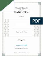 Ceccoli,C.el Ocaso, Habanera.-fl G-Pno