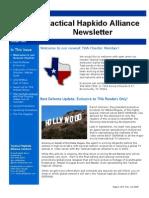 Tactical Hapkido Alliance Newsletter October 2009