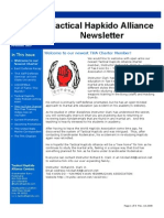 Tactical Hapkido Alliance Newsletter November 2009