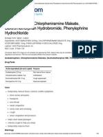 Acetaminophen, Chlorpheniramine Maleate, Dextromethorphan Hydrobromide, Phenylephrine Hydrochloride