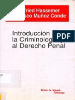 Hassemer Winfried - Introduccion a La Criminologia y Al Derecho Penal