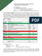 2013 EELE 454 Schedule
