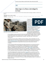 La Autoridad Palestina Urge a La Haya a Investigar La Oper Ación Militar en Gaza Internacional EL PAÍS