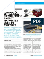 Modeling Optimizes a Piezoelectric Energy Harvester Used in Car Tires