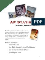 AP Statistics Formula Sheet