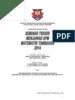 Kertas Kerja Bengkel Spm 2014
