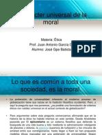 El Carácter Universal de La Moral