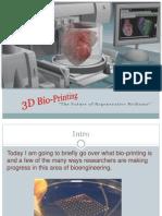 Bio Printing Biology Oral Presentation PPT