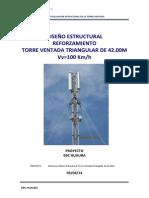 Diseño Estructural Tvt 42m Existente Ref - 100kmh - Ebc Huaura