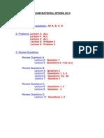 Amem201 Exam Material Spring 14