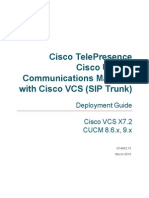 Cisco VCS Cisco Unified Communications Manager Deployment Guide CUCM 8 9 and X7-2