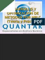 Desarrollo de Metodos Por HPLC