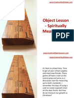 Object Lesson - Spiritually Measuring Up