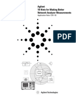 Agilent Better Network Analyzer Measurements