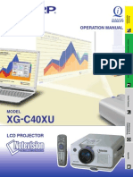 Sharp XG-C40XU Projector Manual