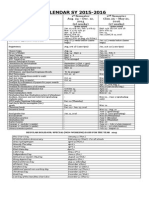 Academic Calendar SY 2015-16