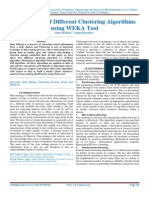 Comparison of Different Clustering Algorithms using WEKA Tool