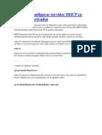 Instalar y Configurar Servidor DHCP en Ubuntu y Derivados