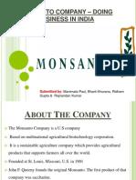 Monsanto strategy